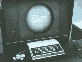 Skärm, tangentbord och mus från the oN-Line System