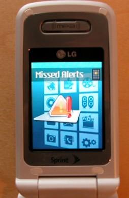 Bild av telefonens menysystem.