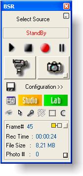 Användargränssnittet för Bulent's Screen Recorder