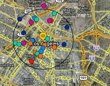 Karta som visar platser för överfall.
