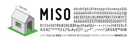 Typprov för typsnittet Miso.