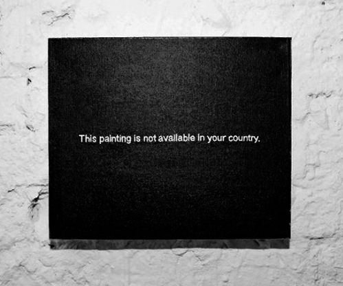 Tavla som bara består av texten 'This painting is not available in your country.'